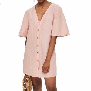 NWT Topshop Angel Sleeve Linen Blend Dress